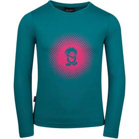 TROLLKIDS Pointillism Longsleeve Shirt Girls smaragd/rubine